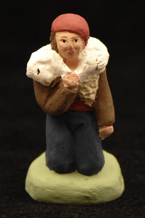 Jeune berger orant à l'agneau