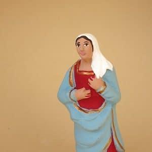 Marie robe rouge santons de Provence arlatenco
