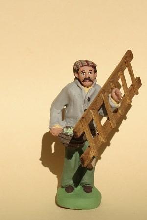 cueilleur d'olives à l'échelle