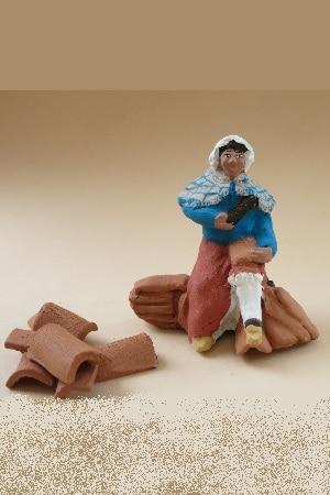 tuilière cuisse de femme santons arlatenco