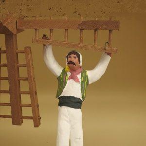 meunier suspendu aux ailes du moulin santons arlatenco